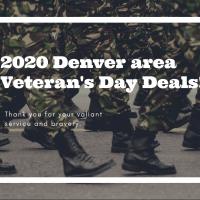 Denver Veteran's Day Deals 2020